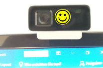 Webcam mit Smiley
